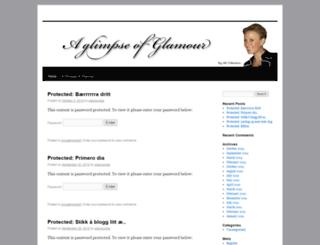 aglimpseofglamour.wordpress.com screenshot