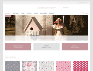 agnes-quiltshop.de screenshot