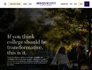 agnesscott.edu screenshot