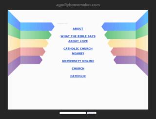 agodlyhomemaker.com screenshot