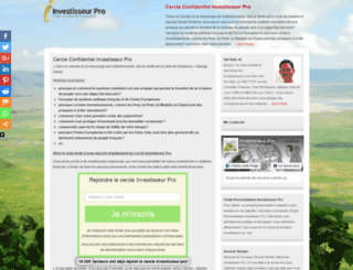 agora.investisseurpro.com screenshot