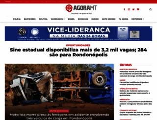 agoramt.com.br screenshot