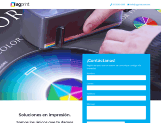 agprint.com.mx screenshot