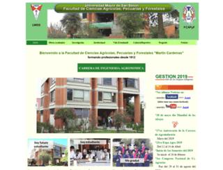 agr.umss.edu.bo screenshot