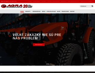 agra.sk screenshot