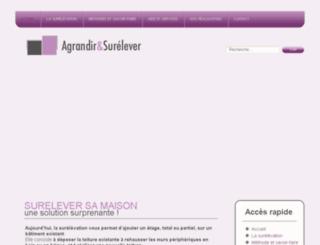 agrandir-surelever.fr screenshot