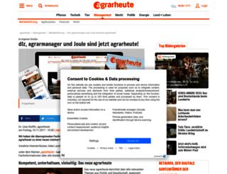 agrarmanager.agrarheute.com screenshot