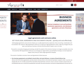 agreementsonline.co.za screenshot