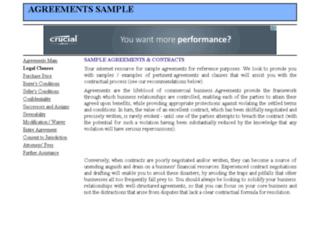 agreementssample.com screenshot