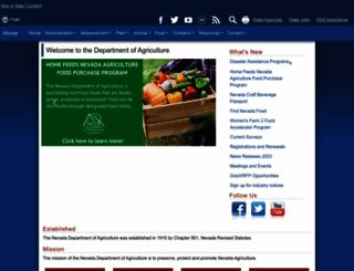 agri.state.nv.us screenshot
