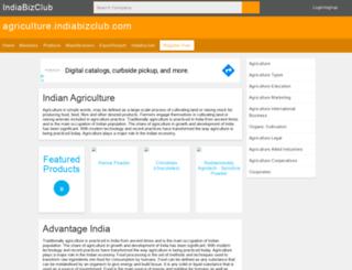 agriculture.indiabizclub.com screenshot