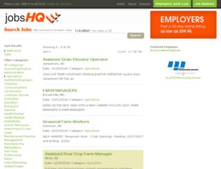 agriculture.jobshq.com screenshot