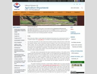 agriculture.uk.gov.in screenshot