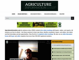 agricultureinformation.com screenshot