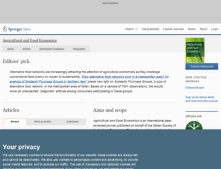 agrifoodecon.springeropen.com screenshot