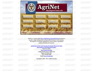 agrinet.tamu.edu screenshot