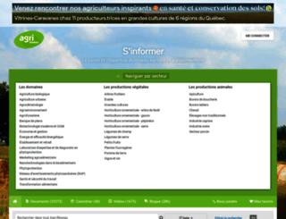 agrireseau.qc.ca screenshot