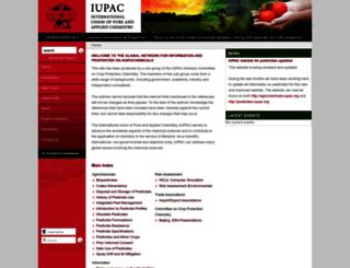 agrochemicals.iupac.org screenshot