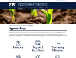 agroecology.fiu.edu screenshot