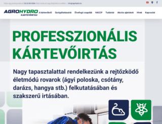 agrohydro.hu screenshot