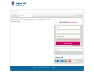 agropuringredients.applicantpool.com screenshot