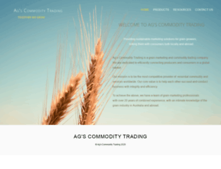 agscommoditytrading.com screenshot