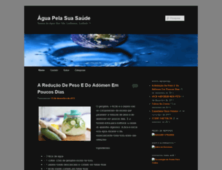 aguapelasuasaude.wordpress.com screenshot
