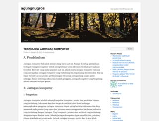 agungnugros.wordpress.com screenshot