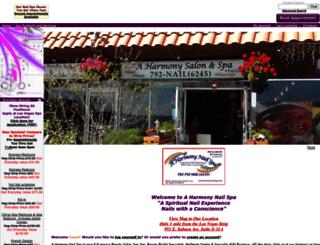 aharmonynailspa.com screenshot
