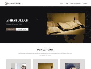 ahbabullah.com screenshot