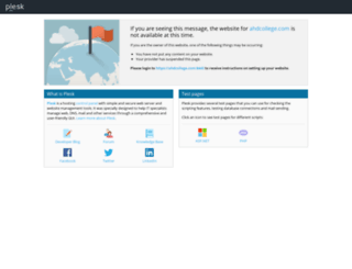 ahdcollege.com screenshot
