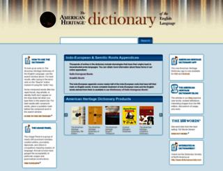 ahdictionary.com screenshot