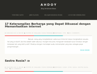 ahdoy.blogspot.com screenshot