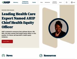ahip.org screenshot