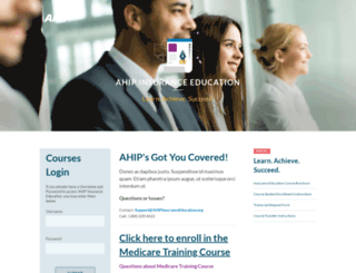 ahipinsuranceeducation.org screenshot