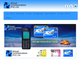 ahmadcommunication.com.pk screenshot