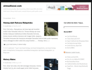 ahmadfaizal.com screenshot