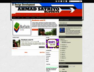 ahmadsatriyo.blogspot.com screenshot