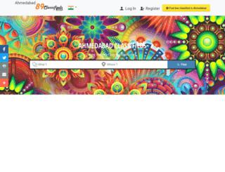 ahmedabad.89classifieds.com screenshot