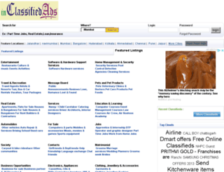 ahmedabad.inclassifiedads.com screenshot
