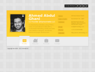 ahmedag.com screenshot