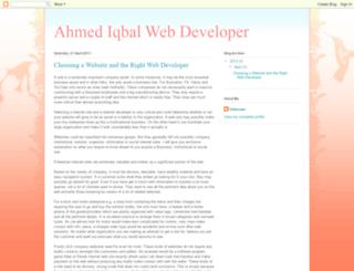 ahmediqbalwebdeveloper.blogspot.com screenshot