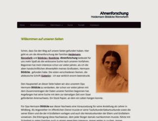 ahnenforschung-heidemann.de screenshot