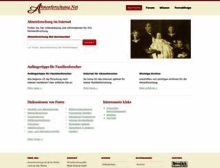 ahnenforschung.net screenshot