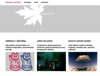 ahornblau.com screenshot