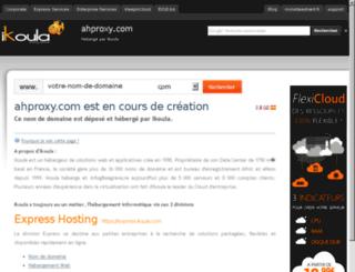 ahproxy.com screenshot