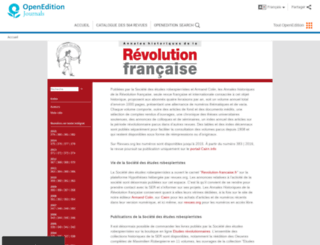 ahrf.revues.org screenshot