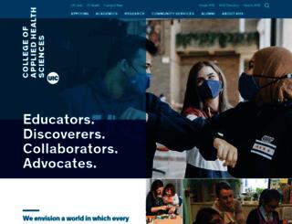 ahs.uic.edu screenshot