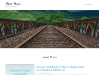 ahsanhayat.com screenshot