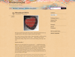 ahsanurosyid.wordpress.com screenshot